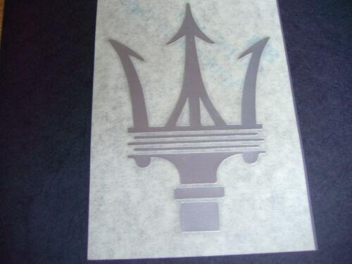 Pegatina Sticker Maserati tridente Silver 120 x 85 mm nuevo Official original