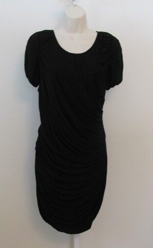 Diane Von Furstenberg ERosa schwarz knit dress 12 DVF NWT New