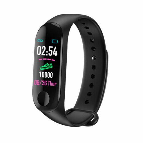 1x Smart Armband Fitness Herzfrequenz Sportuhr Schlaf Überwachung Wasserdicht NI