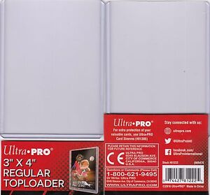 10-ULTRA-PRO-TOP-LOADER-CLEAR-3-034-x-4-034-Regular-Trading-Card-Protection-Top-Loader