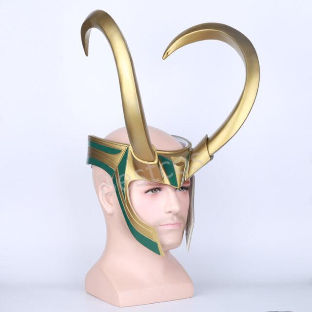 2018 Movie Thor 3 Ragnarok Loki Laufeyson PVC Cosplay Mask Helmet Halloween Hot