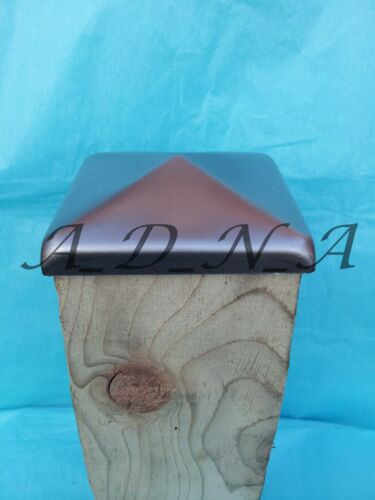 """4/"""" 100mm X 100mm UNTREATED SQUARE METAL POST FENCE CAP TOP  /& Flange 10mm"""