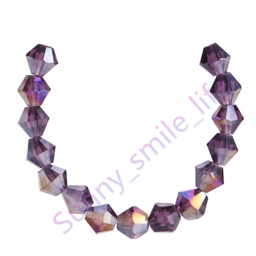 200Ps Crystal Glass 5301# Bicone Loose Spacer Beads Charms Findings 4mm 70Colors