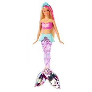 Barbie-Dreamtopia-Sparkle-Lights-Mermaid-with-Blonde-amp-Pink-Hair