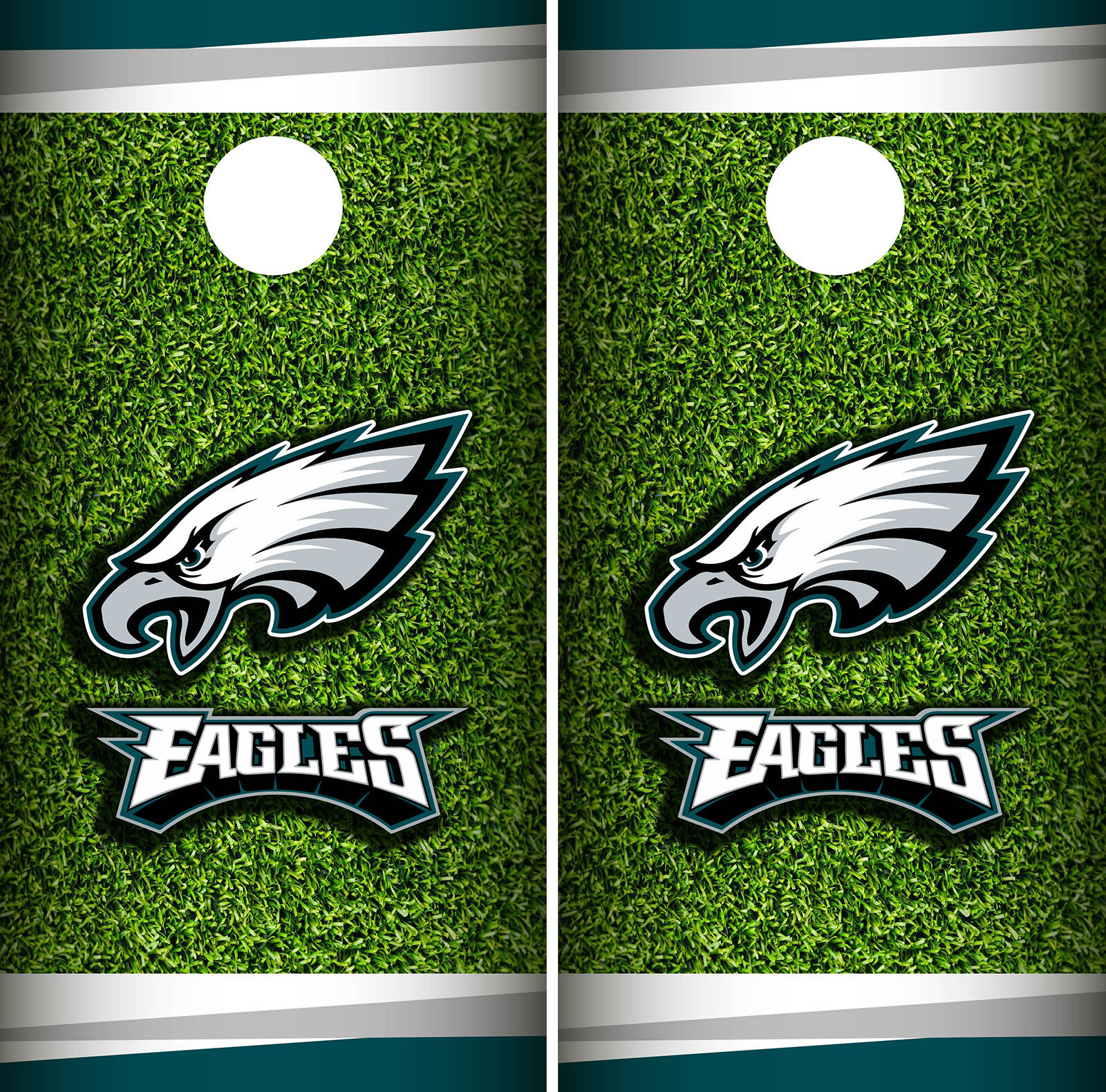 Philadelphia Eagles Field Cornhole Wrap NFL Skin Game Board Set Vinyl Decal CO25