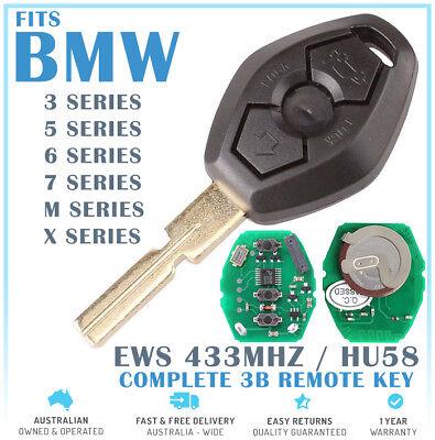 2 x BMW 3 Button Key Remote Case//Shell//Blank 3-5-7 SERIES X3 X5 Z4 E39 E46 M3 M5