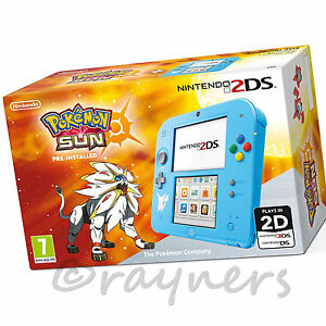 Open-Box-Special-Edition-Nintendo-2DS-Console-Pokemon-Sun-Game-Pre-Installed