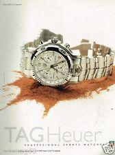 Publicité advertising 1997 La Montre Tag Heuer série 6000 Chronographe