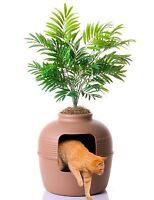 Good Pet Stuff Hidden Pet Kitten Cat Litter Box Plant, Brown, Free Shipping,