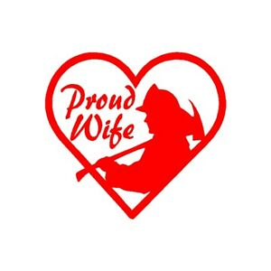 Heart Red Line Fireman Sticker Phone Cup Laptop Car Window Bumper Wife 911 Decal