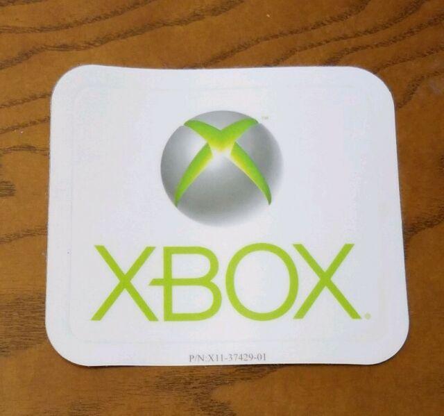 Vintage Original Microsoft Xbox Logo Sticker Promo Decal Video Game Console