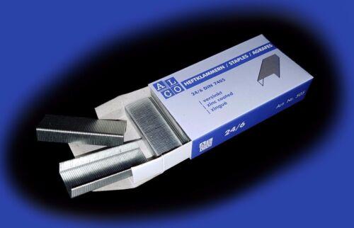 1000-5000 ALCO Heftklammern 24//6 DIN7405 Tackernadeln verzinkt