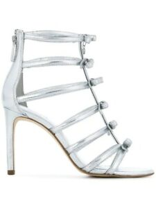 6108967a44e16 Details about MICHAEL Michael Kors Silver Veronica Caged Strappy Dress  Sandal Size 7