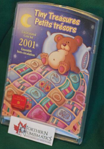 2001P Canada 7 coin Tiny Treasures Uncirculated set A1 condition