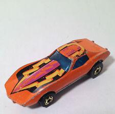 Hot Wheels Corvette Stingray Orange with Gold Wheels Vintage 1975 Chevy Hot Ones