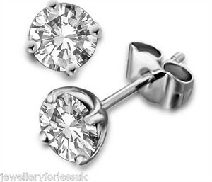18Carat-White-Gold-Diamond-Solitaire-Ear-Studs-4-Claw-1-00-carats-ESI2-Certified
