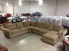 Pottery Barn Pearce Couch Sofa Sectional light wheat Everyday Suede 149x123