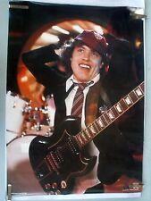 RARE AC/DC  ANGUS YOUNG GUITAR 1982 VINTAGE ORIGINAL MUSIC POSTER