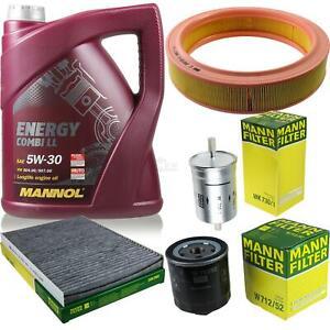 Motor-Ol-5L-MANNOL-5W-30-Combi-LL-MANN-FILTER-Filterpaket-Skoda-Octavia-1U2-1-6