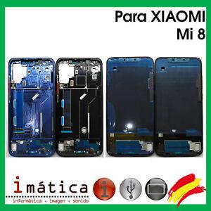 MARCO-INTERMEDIO-PARA-XIAOMI-MI-8-AZUL-NEGRO-CHASIS-FRAME-PANTALLA-LCD