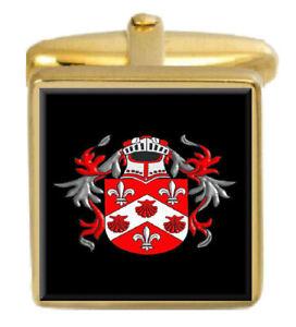FleißIg Johnson Irland Familie Wappen Familienname Gold Manschettenknöpfe Graviert Kiste