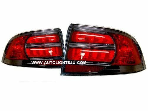 ACURA TL S TYPE 2004-2007 BLACK TAILLIGHTS TAIL LIGHTS REAR LAMPS SET PAIR NEW
