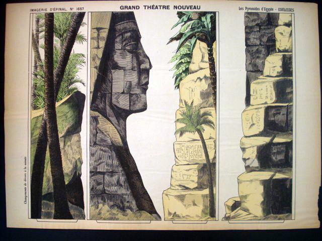 Pellerin Imagerie D'Epinal-Grand Theatre Nouveau No 1657 Egypt Pyramids Inv1769