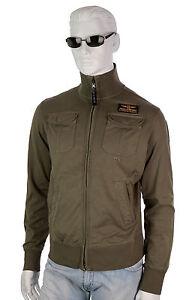 PARAJUMPERS-Nelson-Sommer-Zip-Sweatshirt-Sweatjacke-Sweat-Gr-L-militar-BW