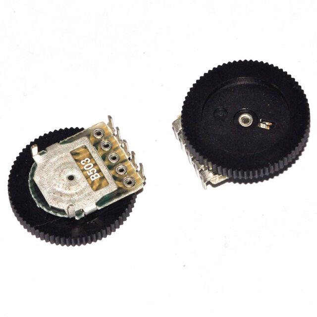 50pcs Dial potentiometer Gear potentiometer  single/double  3/5feet 10/50k