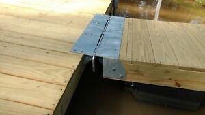 Diy 4 ft wide boat dock ramp hinge kit floating or fixed ebay image is loading diy 4 ft wide boat dock ramp hinge solutioingenieria Image collections