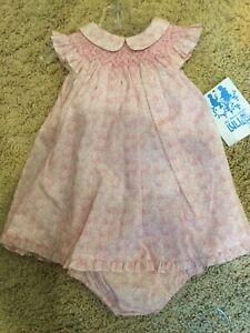 NWT-Sz-6m-2-Pc-Smocked-Printed-Dress-Luli-amp-Me
