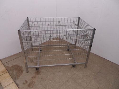 5x Wühltisch Chrom 120x80 cm rollbar mit Rollen Böden höhenverstellbar gebraucht