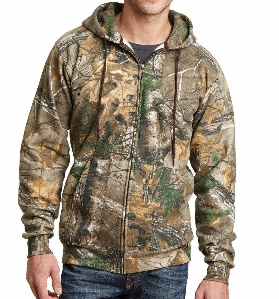 Russell Outdoors Mens S-3XL FULL or 1 4 ZIP Realtree XTRA Camo Sport Sweatshirts