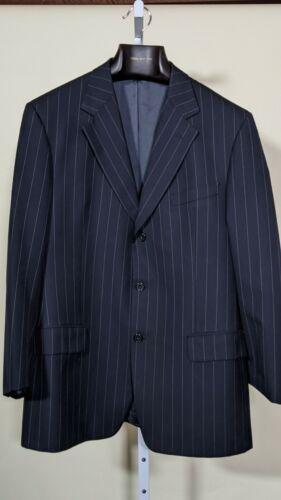 Gucci Vintage Tom Ford Era Blue Pinstripe Power Bl