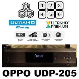 Details about OPPO DIGITAL UDP-205 MULTI CODE REGION FREE 4K ULTRA HD  BLU-RAY DVD PLAYER USED