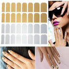 16pcs Silver/Golden/Black Foils Armour Nail Art Decoration Sticker Patch Wraps !