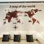 World Map Acrylic 3D Wall Sticker Decal Bedroom Living Room Modern Home Decor