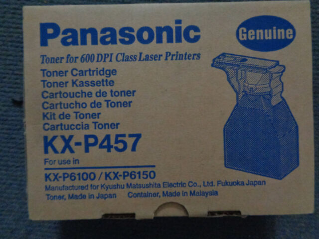 GENUINE PANASONIC KX P457 TONER CARTRIDGE for KXP 6100 6150 SERIES.