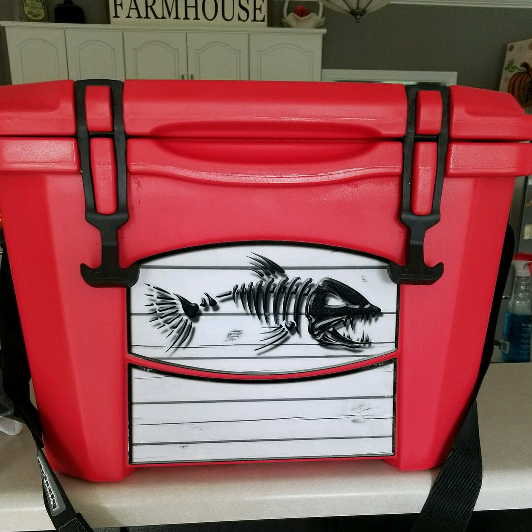USATuff Cooler Custom Cooler USATuff Wrap Decal fits Grizzly 75qt L+I USA ROT Line Flag 54347a