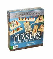 Solid Wood Brain Teasers - 7 Different Brain Busters Free Shipping