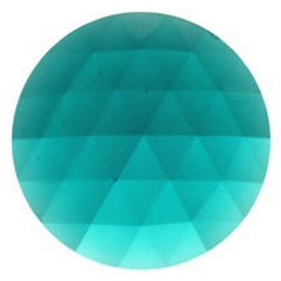 FREE SHIPPING 35616 JEWEL-25mm ROUND-TEAL Stained Glass Supplies