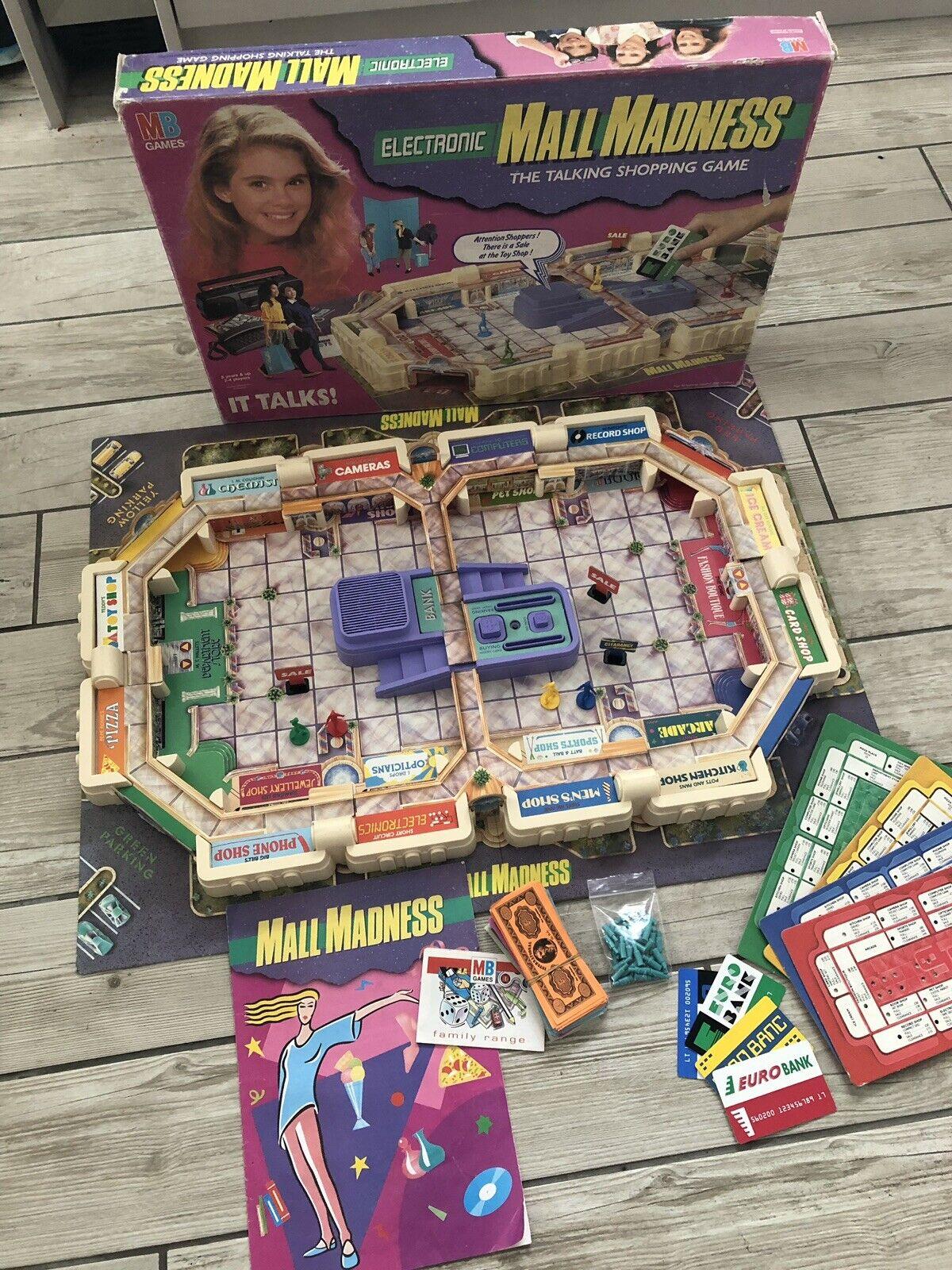 Original Complete Vintage 1992 MB Mall Madness Game Retro RARE