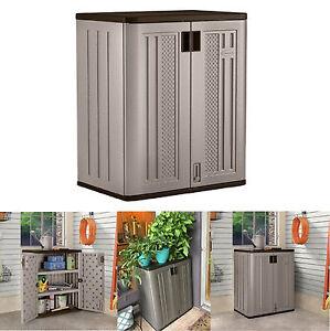 Outdoor Storage Cabinets Suncast Lawn Yard Patio Garden Deck