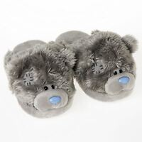 Me To You Pair Of Fluffy Slippers Size 5/6 Grey Bear Design - Tatty Teddy Bear