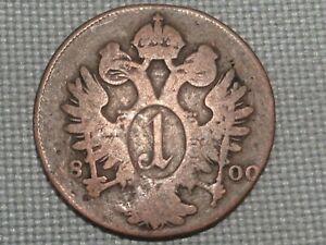 Holy-Roman-Empire-Austria-1800-A-1-Kreuzer-Kaiser-Franz-II-Crowned-Double-Eagle