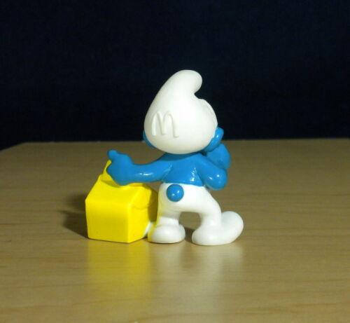 Smurfs McDonalds Smurf Happy Meal Yellow Box Vintage Figure PVC Toy Lot Figurine