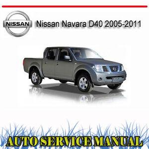 nissan navara d40 service repair manual pdf