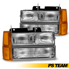1994-1998 Chevy Silverado Tahoe C1500 C2500 K1500 Chrome Headlights+Signal Light