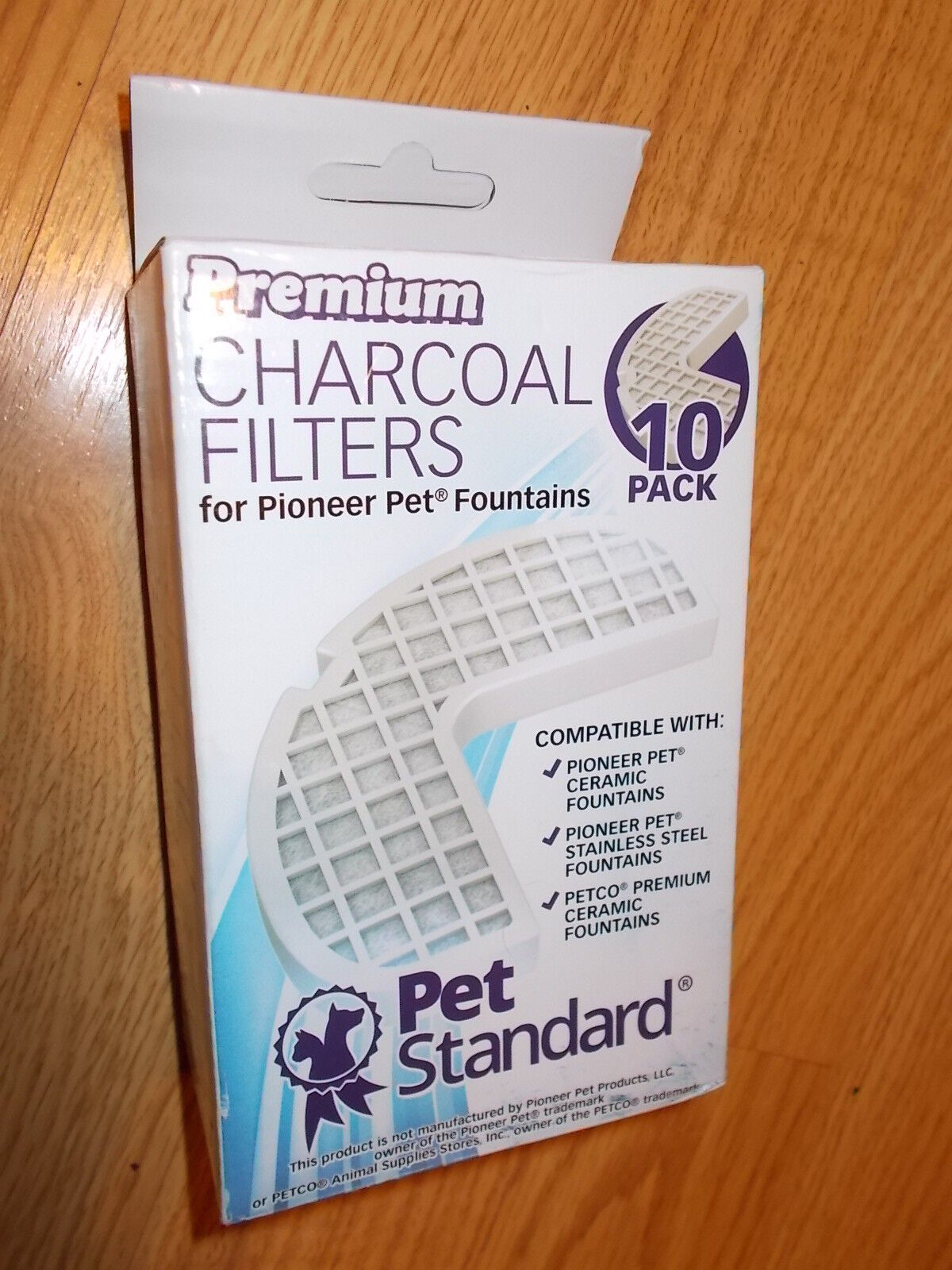 10 pk Pet Standard Charcoal Filters - Pioneer Ceramic & Stainless Steel Fountain