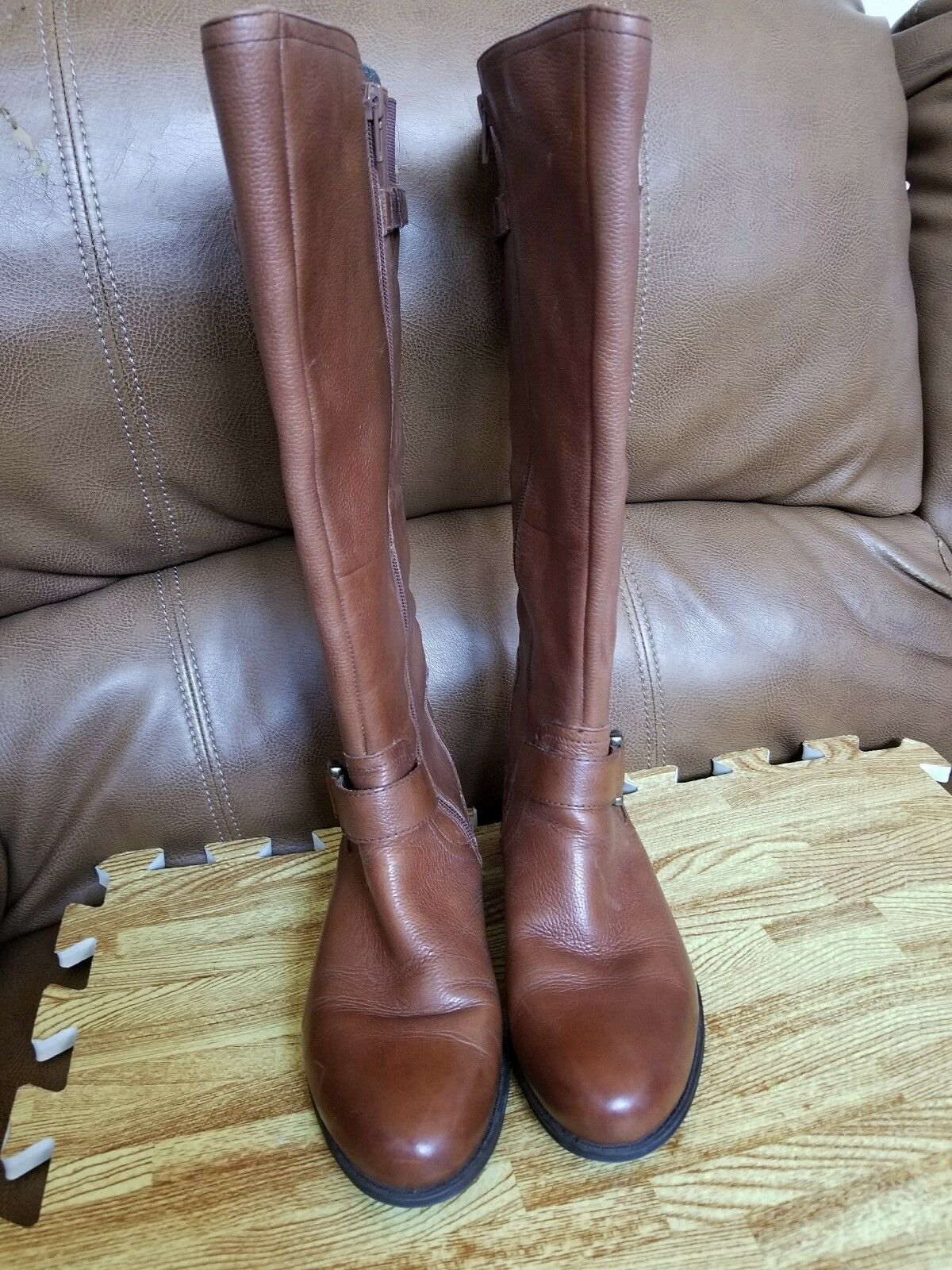 Naturalizer Womens JoyLynn Brown Riding Boots shoes Size 6.5M